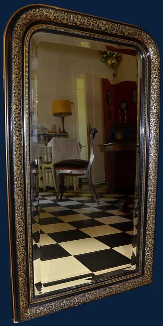 Een antieke zwarte vergulde spiegel frankrijk 19e eeuw for Zwarte spiegel