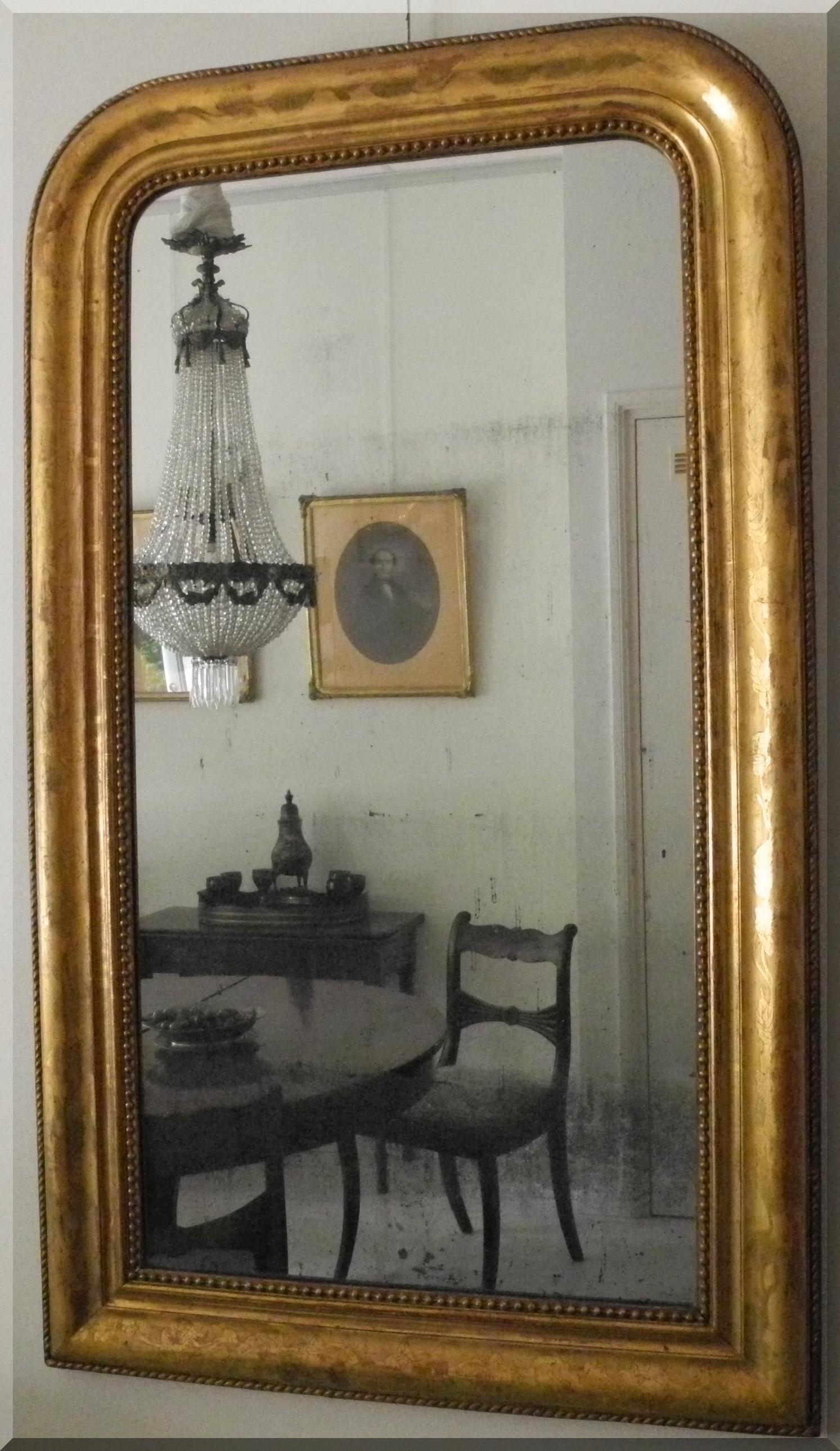 Antieke Spiegel Frans.Een Antieke Vergulden Spiegel Frans Ca 1860